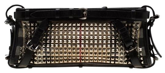 Preload https://img-static.tradesy.com/item/26362573/burberry-house-check-studded-black-leather-and-canvas-clutch-0-2-540-540.jpg