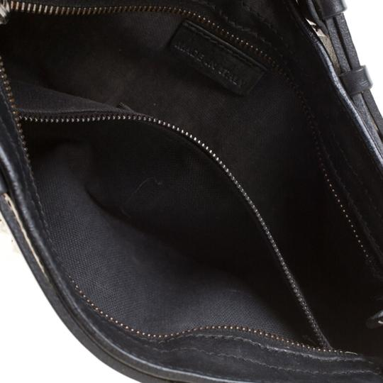 Burberry Leather Canvas Studded Black Clutch Image 6