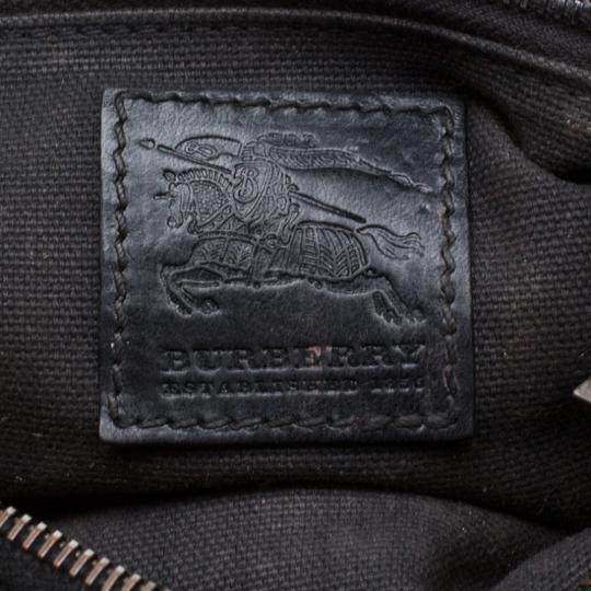 Burberry Leather Canvas Studded Black Clutch Image 8