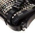 Burberry Leather Canvas Studded Black Clutch Image 9