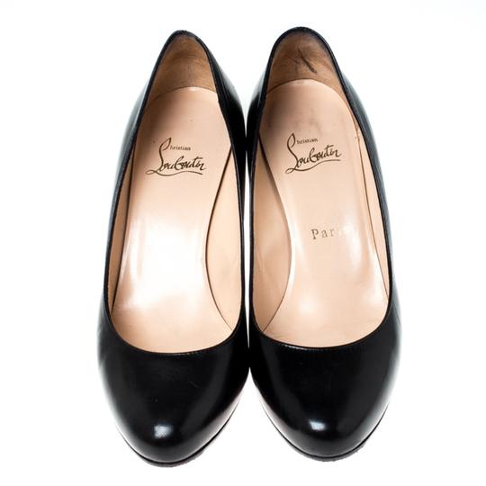 Christian Louboutin Leather Black Pumps Image 2