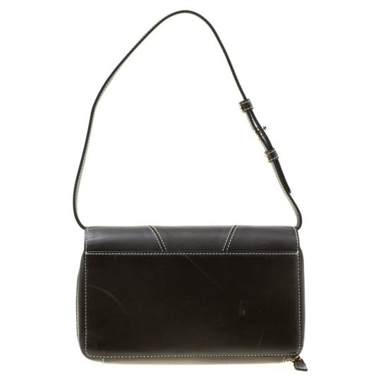 Givenchy Nylon Leather Grey Clutch Image 1