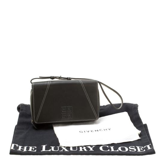 Givenchy Nylon Leather Grey Clutch Image 10
