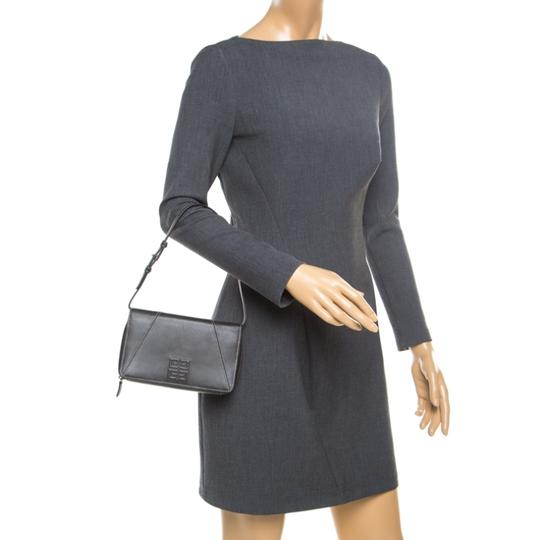 Givenchy Nylon Leather Grey Clutch Image 2