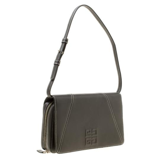 Givenchy Nylon Leather Grey Clutch Image 3