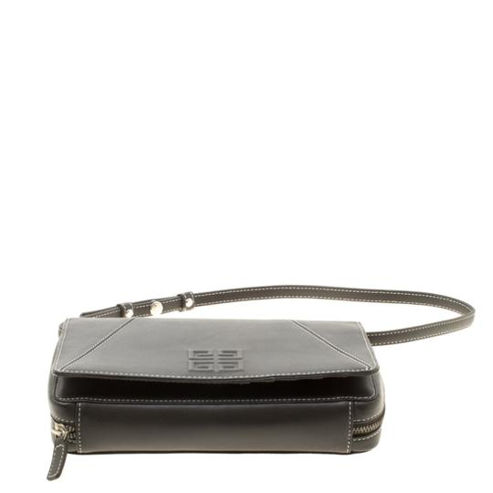 Givenchy Nylon Leather Grey Clutch Image 4