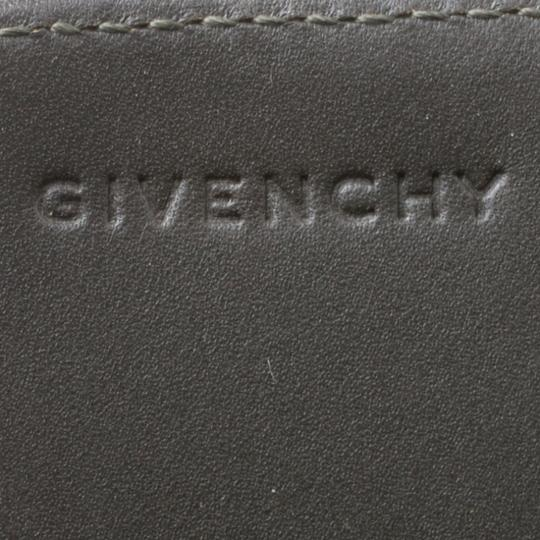 Givenchy Nylon Leather Grey Clutch Image 5