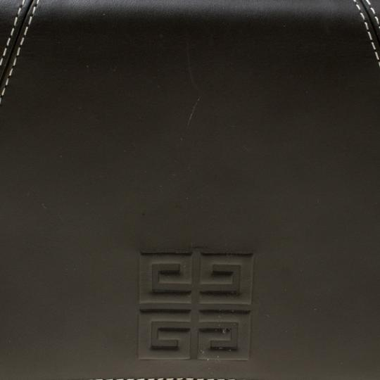 Givenchy Nylon Leather Grey Clutch Image 6