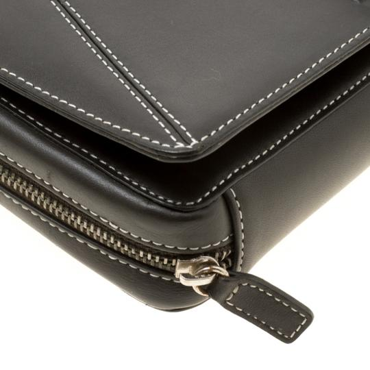 Givenchy Nylon Leather Grey Clutch Image 7