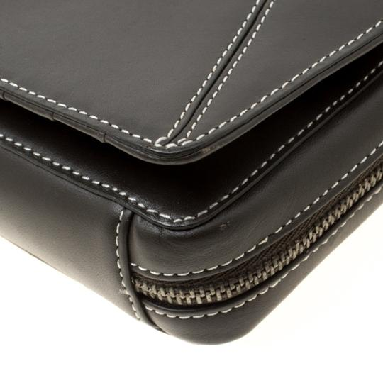Givenchy Nylon Leather Grey Clutch Image 8
