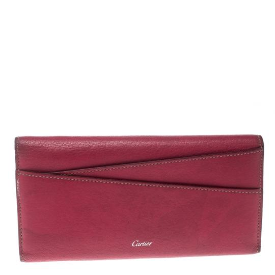 Cartier Cartier Pink Leather Les Must Envelope Trifold Wallet Image 1