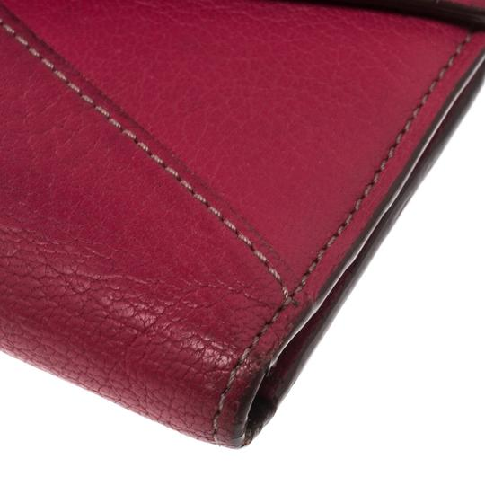 Cartier Cartier Pink Leather Les Must Envelope Trifold Wallet Image 4