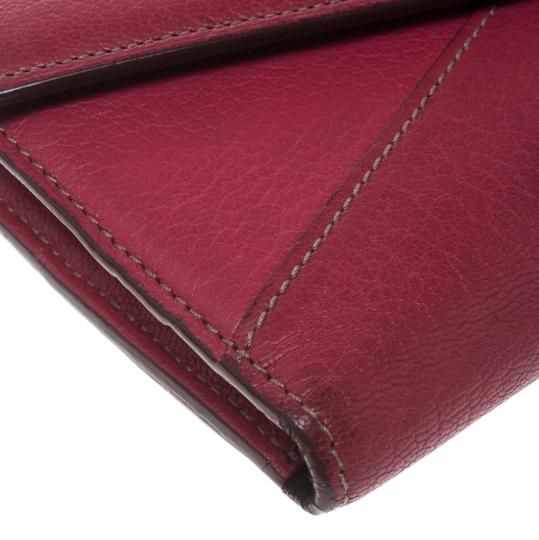 Cartier Cartier Pink Leather Les Must Envelope Trifold Wallet Image 5