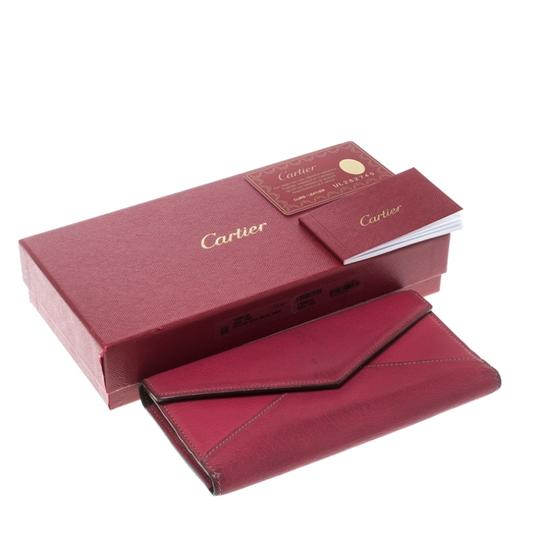 Cartier Cartier Pink Leather Les Must Envelope Trifold Wallet Image 9