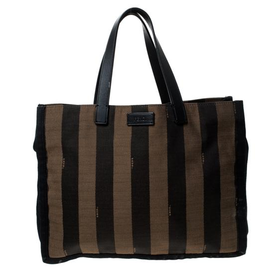 Preload https://img-static.tradesy.com/item/26362760/fendi-tobacco-pequin-stripe-brown-canvas-and-leather-tote-0-0-540-540.jpg