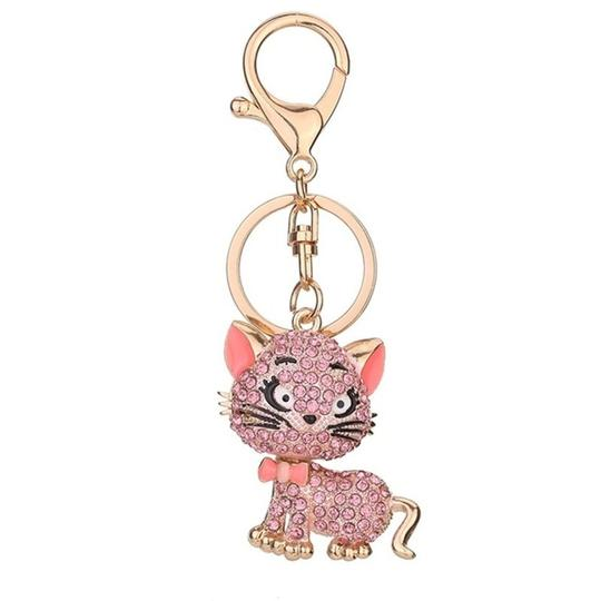Other Lovely Crystal Cat Key Chain Image 1