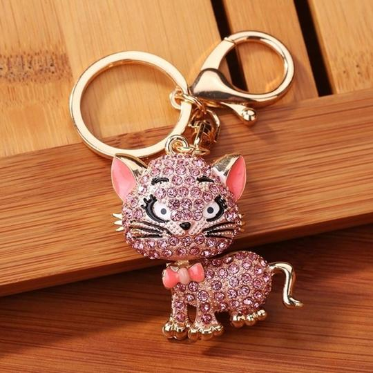 Other Lovely Crystal Cat Key Chain Image 2