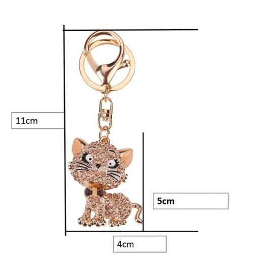 Other Lovely Crystal Cat Key Chain Image 4