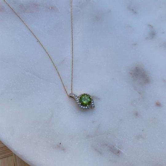 Other Peridot and Diamond Pendant in Yellow Gold Image 2