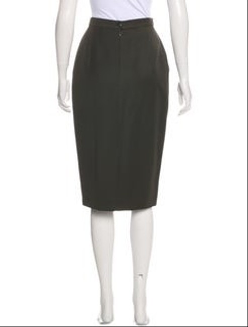 Escada Wool Pencil Neutral Color Skirt olive green Image 2