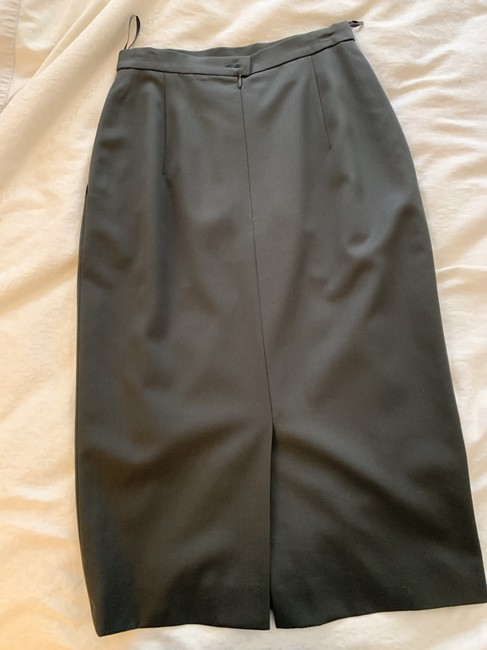 Escada Wool Pencil Neutral Color Skirt olive green Image 4