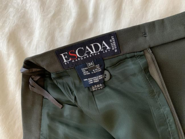 Escada Wool Pencil Neutral Color Skirt olive green Image 5