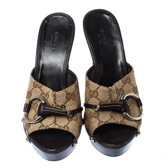 Gucci Gg Canvas Mule Brown Sandals Image 2