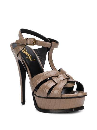 Saint Laurent Brown Sandals Image 2