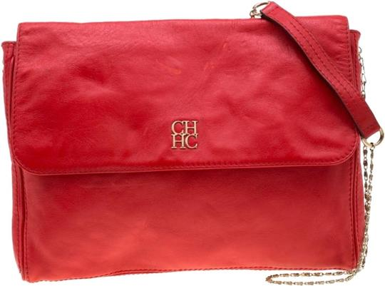 Carolina Herrera Leather Shoulder Bag Image 0