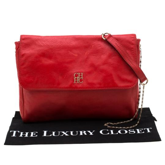 Carolina Herrera Leather Shoulder Bag Image 10