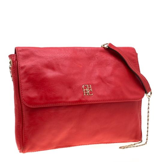 Carolina Herrera Leather Shoulder Bag Image 3