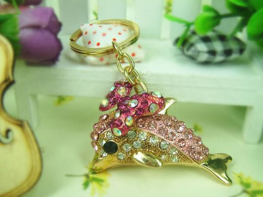 Other Dolphin and Butterfly Crystal Key Ring Image 3