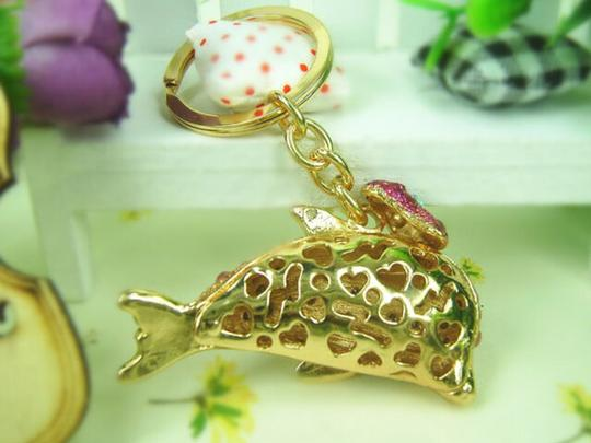 Other Dolphin and Butterfly Crystal Key Ring Image 4
