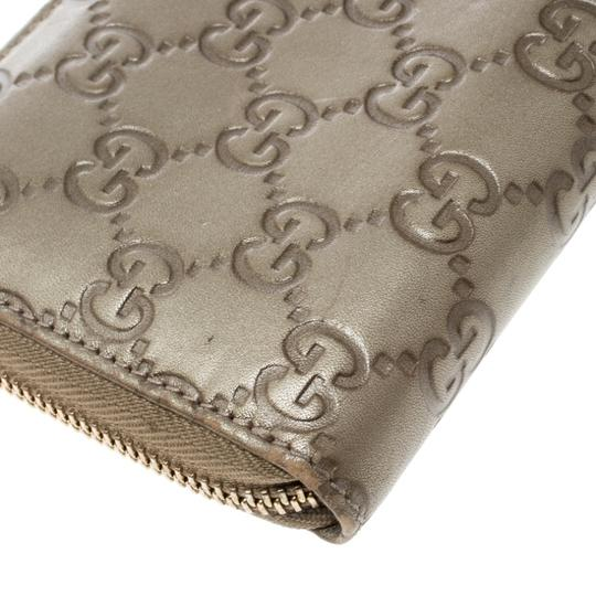 Gucci Gucci Gold Guccissima Leather Zip Around Wallet Image 4