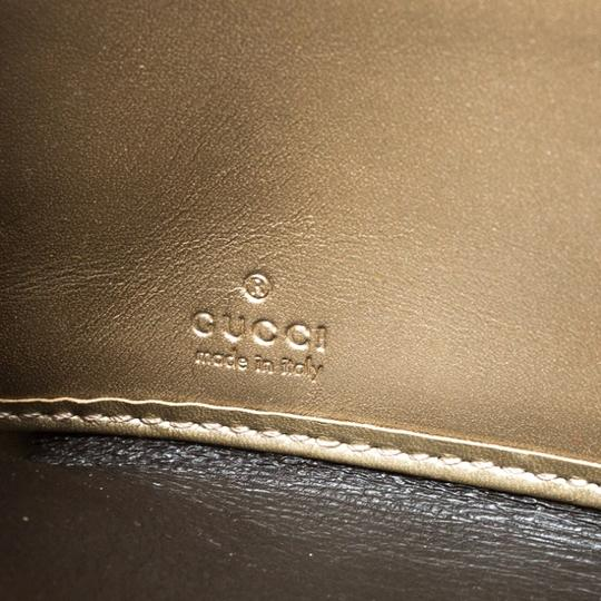 Gucci Gucci Gold Guccissima Leather Zip Around Wallet Image 8