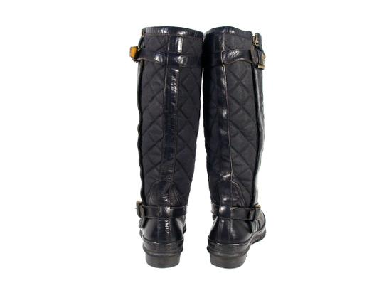 Ralph Lauren Collection Purple Label Tall Quilted Rubber Winter Black Boots Image 3