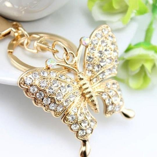 Other Rhinestone Butterfly Key chain/Purse Charm Image 1