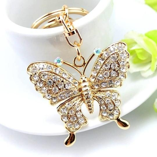 Other Rhinestone Butterfly Key chain/Purse Charm Image 2