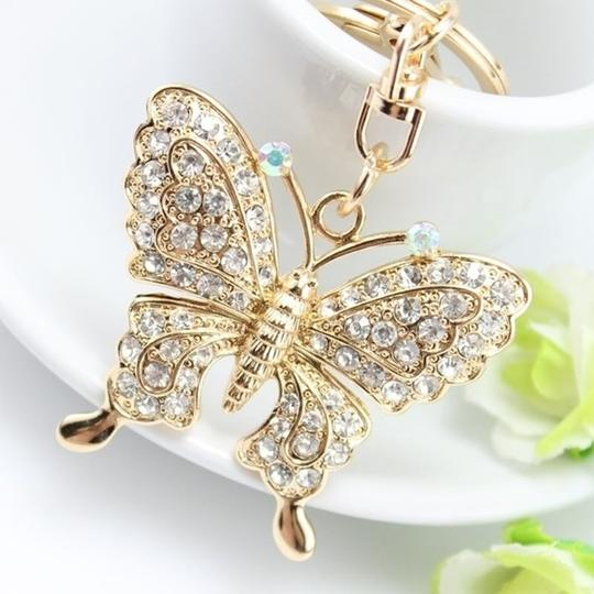 Other Rhinestone Butterfly Key chain/Purse Charm Image 3
