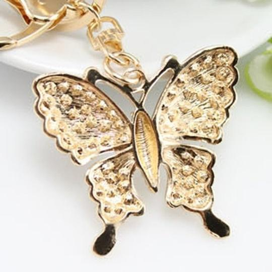 Other Rhinestone Butterfly Key chain/Purse Charm Image 4