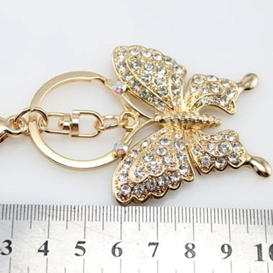 Other Rhinestone Butterfly Key chain/Purse Charm Image 5
