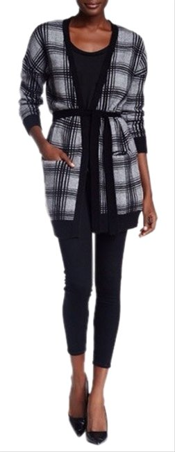 Preload https://img-static.tradesy.com/item/26362972/360-sweater-gray-black-two-tone-plaid-cashmere-cardigan-size-2-xs-0-2-650-650.jpg