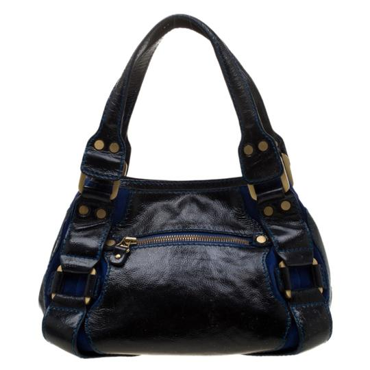 Jimmy Choo Leather Suede Tote in Black Image 1