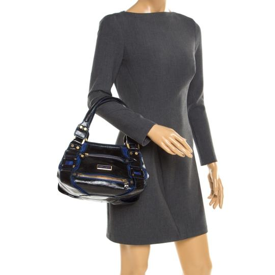 Jimmy Choo Leather Suede Tote in Black Image 2