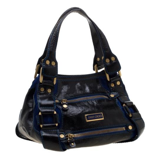 Jimmy Choo Leather Suede Tote in Black Image 3