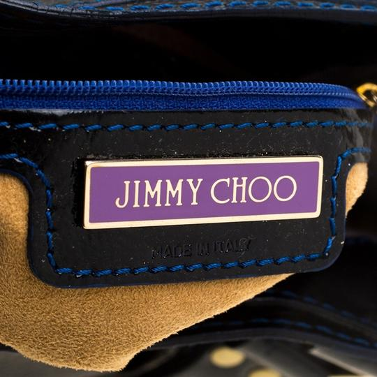 Jimmy Choo Leather Suede Tote in Black Image 7