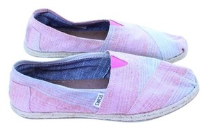 TOMS red, blue, white Flats