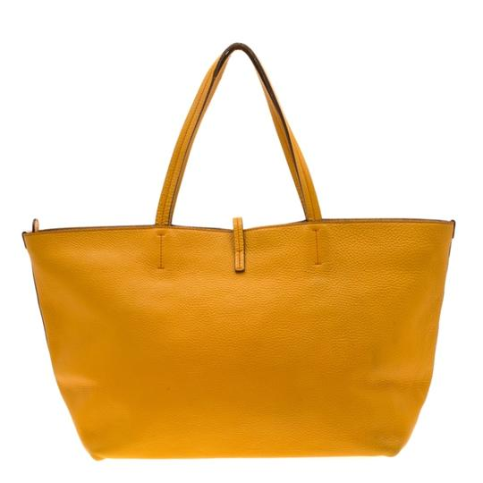 Salvatore Ferragamo Leather Mustard Tote in Yellow Image 1