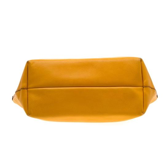 Salvatore Ferragamo Leather Mustard Tote in Yellow Image 4