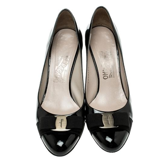 Salvatore Ferragamo Patent Leather Leather Black Pumps Image 1
